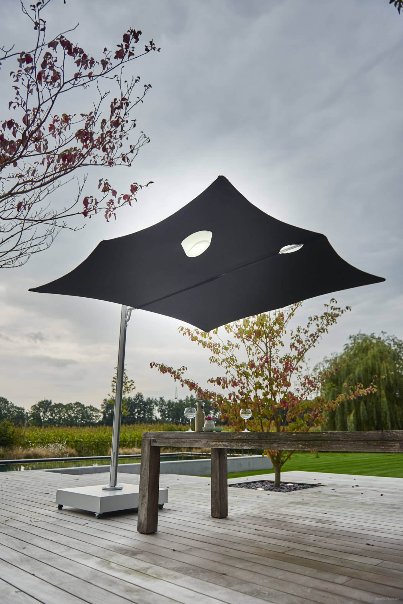 Buitenverlichting | Spectra umbrella met Etna light HR