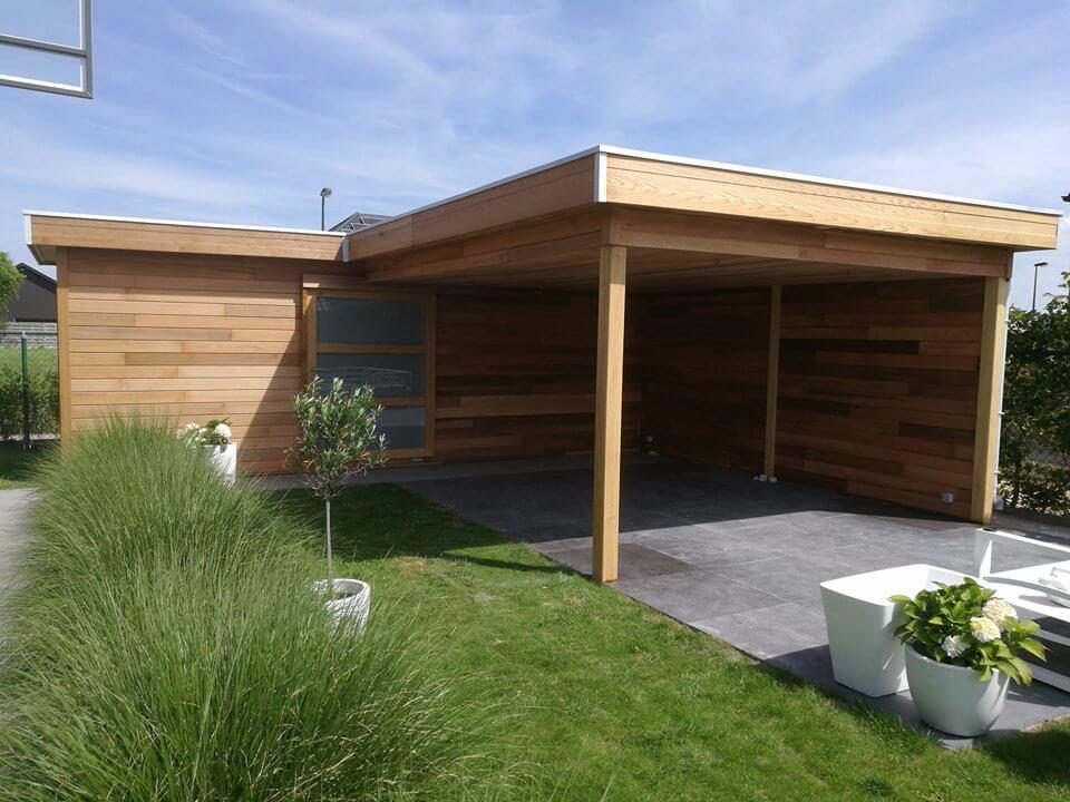 Christiaens | tuinhuis plat dak cederhout
