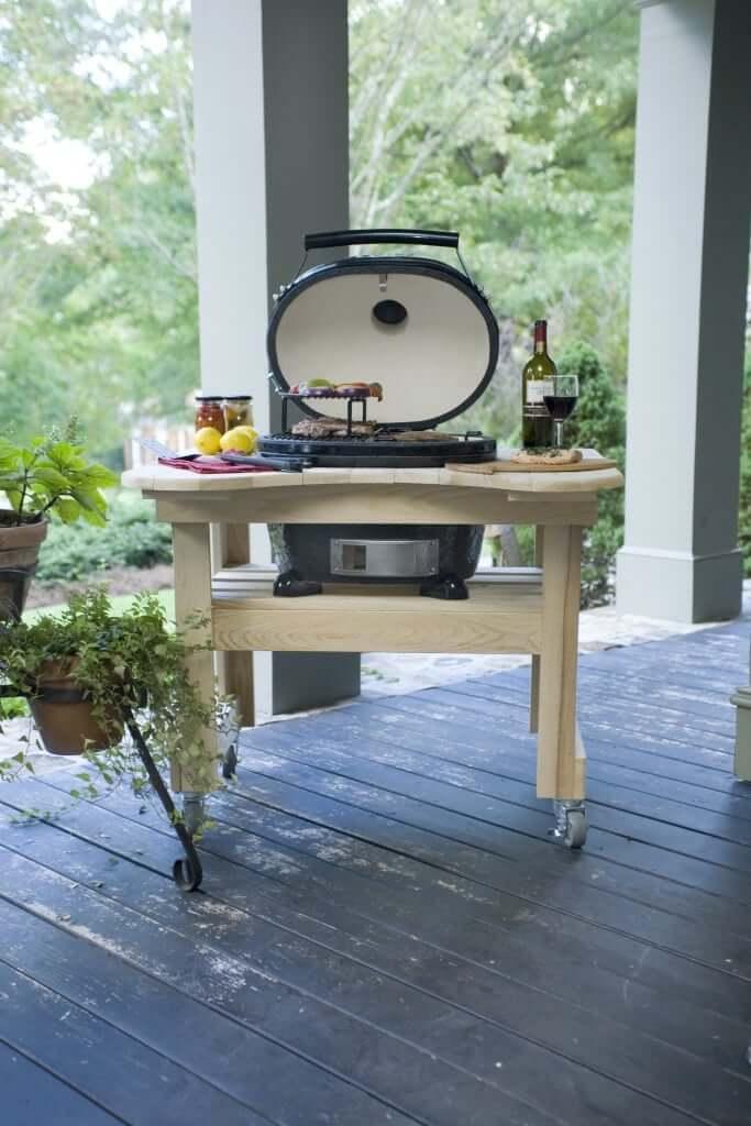 Primo Grill - oval cypresstafel